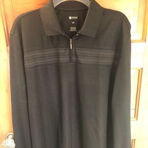 Haggar men's long sleeve collared shirt